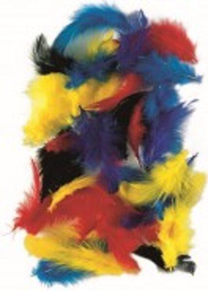 Dekoratīvas vistu spalvas 5-7cm, 10g