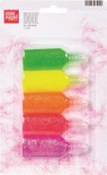 Līme ar gliteriem Neon 20ml, 5gab.