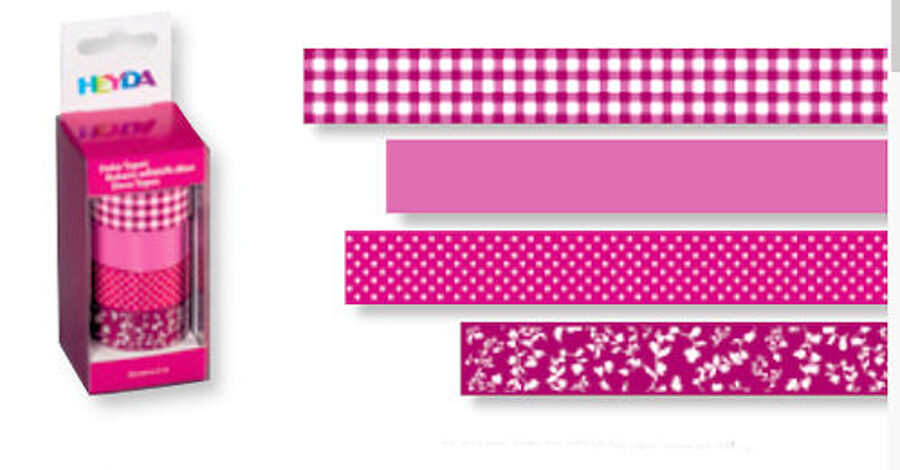 Dekoratīva līmlente 15mm Colour, rozā