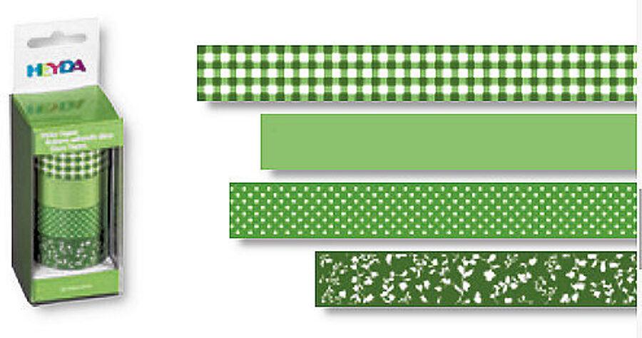 Dekoratīva līmlente 15mm Colour, zaļa