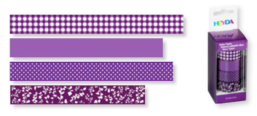 Dekoratīva līmlente 15mm Colour, violeta