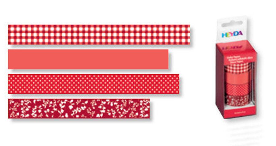 Dekoratīva līmlente 15mm Colour, sarkana