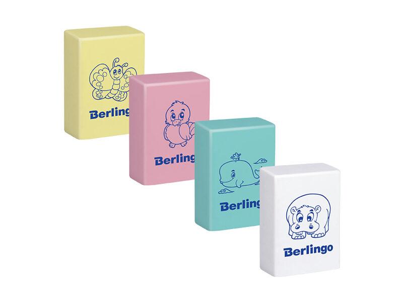 Dzēšgumija 28*18*10mm, mix krāsas, 1gb., Berlingo Animals