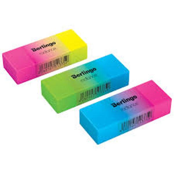 Dzēšgumija 50*18*10mm, mix krāsas, 1gb., Berlingo Radiance