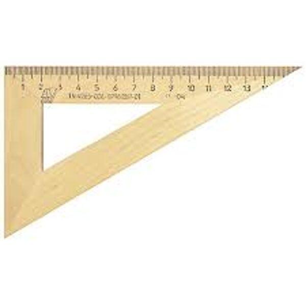 Lineāls trijstūris 60/15cm, koka