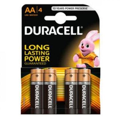 Baterija AA LR06 Duracell Basic 4gab.