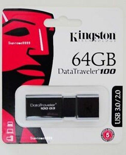 Zibatmiņa Kingston DataTraveler100 Black