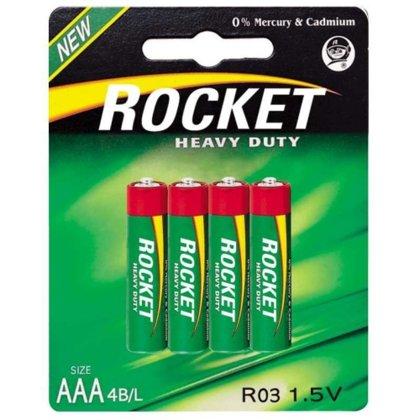 Baterijas AAA LR03 Rocket 4gb