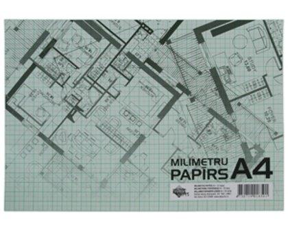 Papīrs milimetru A4, 20 loksnes