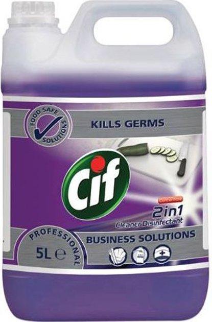 Virsmu uzkopšanas un dezinfekcijas līdzeklis CIF PROFESSIONAL 2IN1 CLEANER DESINFECTANT, 5L