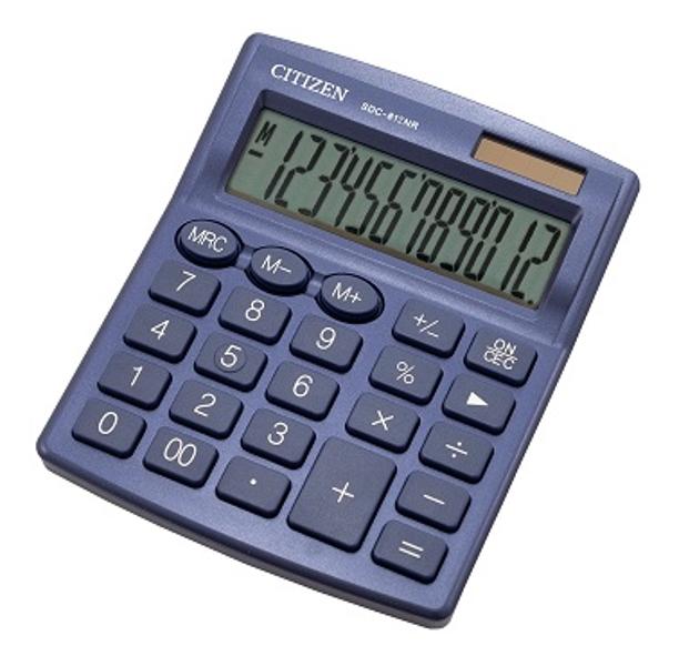 Kalkulators galda, 12 zīmes, Citizen SDC-812NR dažādas krāsas