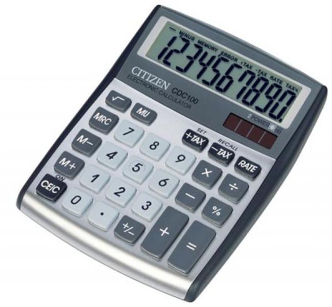 Kalkulators galda,10 zīmes, Citizen CDC-100