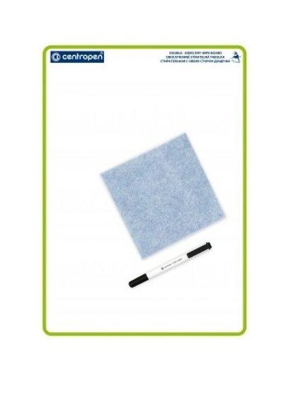 Tāfele balta 34*48 cm, komplektā marķieris un drāna tīrīšanai, Centropen