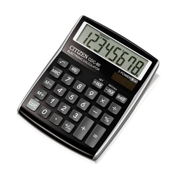 Kalkulators galda, 8 zīmes, melns, Citizen CDC-80