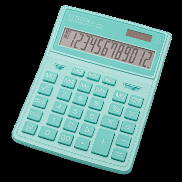 Kalkulators galda, 12 zīmes, Citizen SDC-444X dažādas krāsas