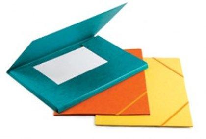 Mape ar gumiju A4, kartona, dažādas krāsas