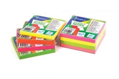 """Līmlapiņas """"NEON"""" 75x75mm 320lpp, neona krāsa"""