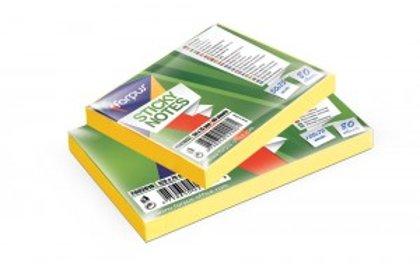 Līmlapiņas 50x75mm, 80 lpp, neona dzeltena krāsā