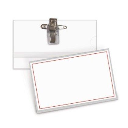 Personas karte ar metala klipsi 54x90mm, kastē 50 gab.