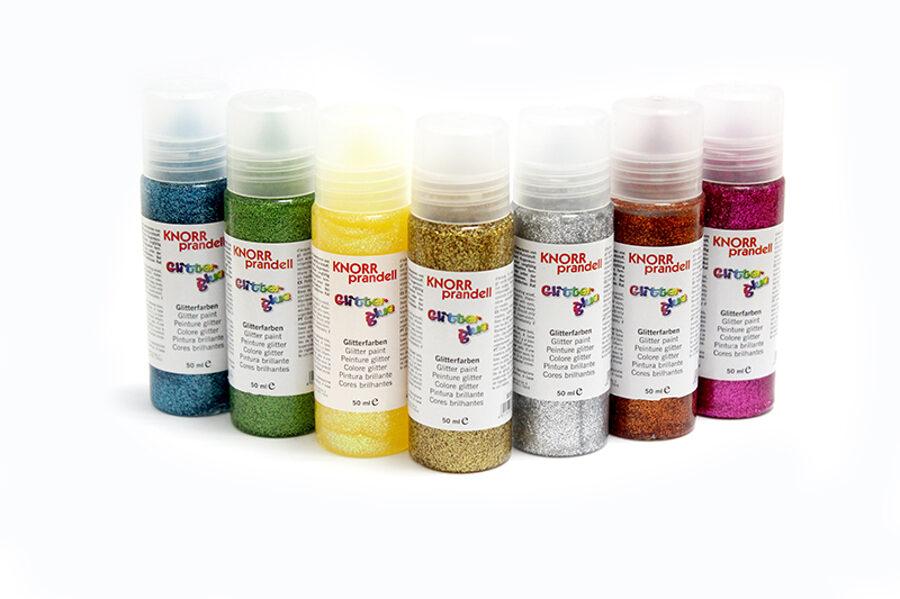 Dekoratīva līme ar gliteriem 50ml, dažādas krāsas