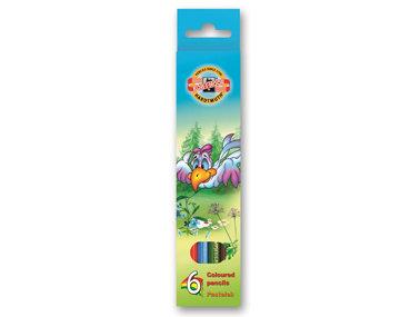 Zīmuļi 6 krāsas, `Birds`, Koh-i-noor
