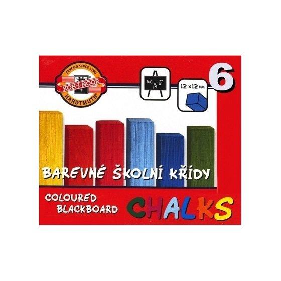 Krīts tāfeles 6 krāsas