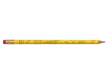 Zīmulis parastais HB ar dzēšgumiju un ģeometrijas formulām, Koh-i-noor