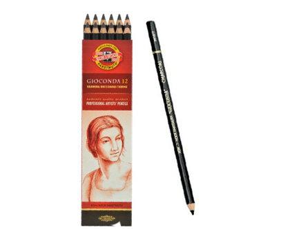Zīmulis mākslinieku, ogļu, īpaši melns, 1 gab.