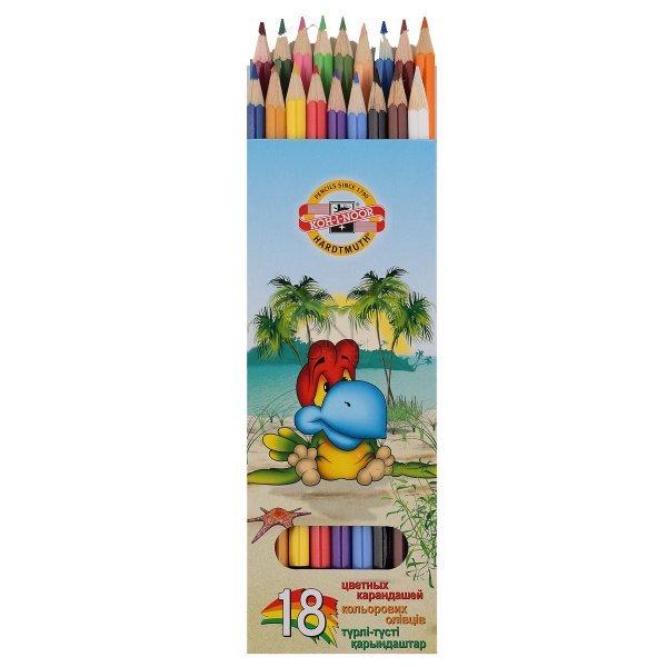 Zīmuļi 18 krāsas, `Putni` Koh-i-noor