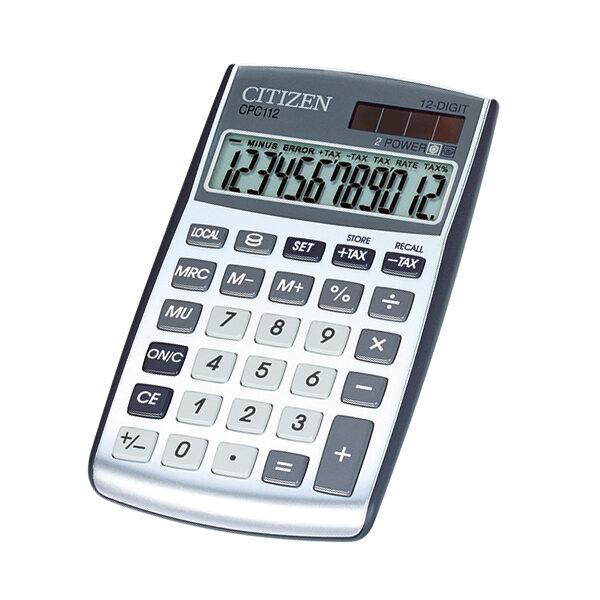 Kalkulators kabatas, 12 zīmes, Citizen CPC-112