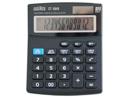 Kalkulators 130*103*23mm, 12 zīmes, Osiris