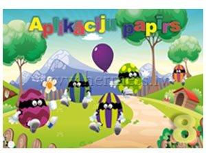 Aplikāciju papīrs A4, 8 krāsas, vienpusējs, glancēts