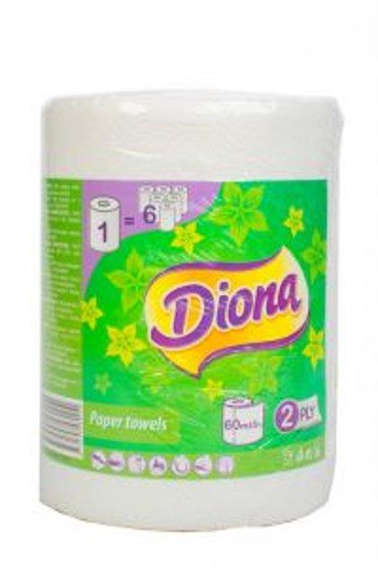 Diona papīra.dvieļi 60m 300lpp. 2-kartas