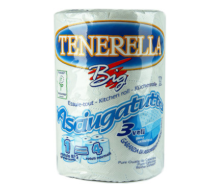 """Papīra dvieļi """"Tenerella"""", 200 lokšņu, 3 slāņi"""