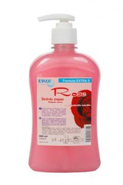 """Antibakteriālās šķidrās krēmziepes """"Ewol Extra S"""" ar rožu smaržu, 500 ml"""