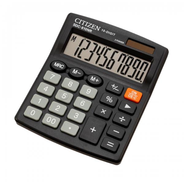Kalkulators galda,10 zīmes, Citizen SDC-810NR, dažādas krāsas