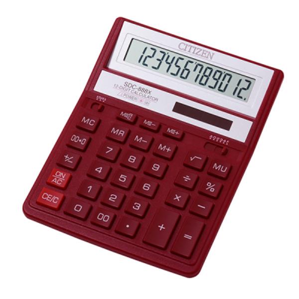 Kalkulators galda, 12 zīmes, Citizen SDC-888, dažādas krāsas