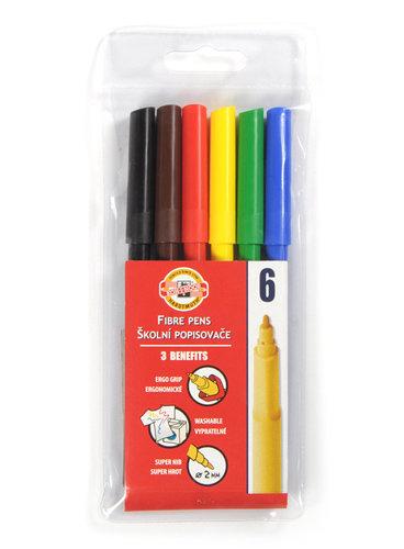 Flomasteri 6 krāsas