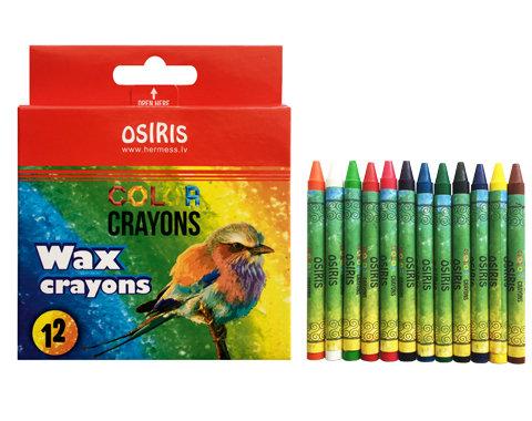 Vaska krītiņi 12 krāsas  diametrs 8mm, garums 90mm,