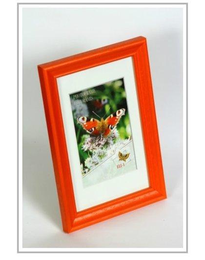 Koka Foto rāmis, oranžā krāsā, dažādi izmēri