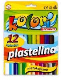 Plastilīns, 12 krāsas, Penmate